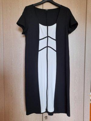 Alba Moda Sukienka midi czarny-biały Wiskoza