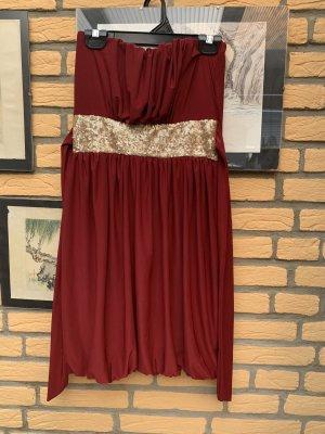 Madonna Sukienka midi ciemnoczerwony