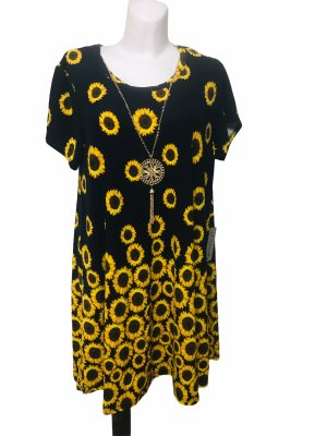 Damen Kleid J for Justify Sonnenblumen XL