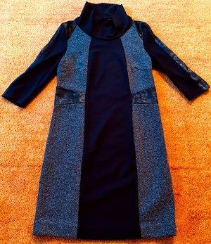 Bonita Vestido estilo camisa negro-gris Viscosa