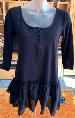 H&M Vestido tipo túnica negro Algodón