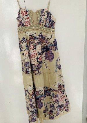 Damen Kleid lang Hippie Boho 40/42 mit Holzperlen