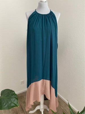 Lesara Robe longue bleu pétrole-beige