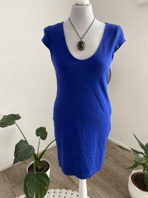 H&M Basic Ołówkowa sukienka niebieski Bawełna