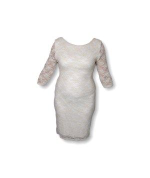 Damen-Kleid, New Look, Gr. 44, hochwertig, luxuriös, edel, weiß/Gold