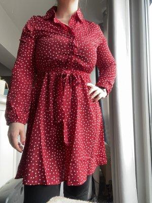 Damen Kleid rot gepunktet Gr. M Shein
