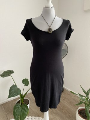 H&M Basic Ołówkowa sukienka czarny Bawełna