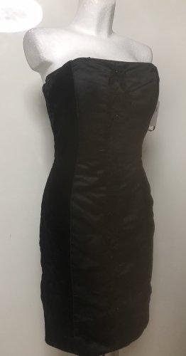 Damen Kleid Schwarz Blumen Dekor 38 Neu
