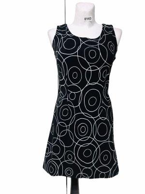 Damen Kleid schwarz Weiß Kreise Stretch M