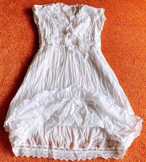 Apanage Sukienka midi biały Bawełna