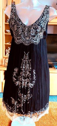 Derhy Summer Dress black-cream viscose