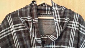 Xanaka Vestido corte imperio marrón grisáceo-blanco puro Viscosa
