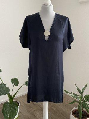 Zara Tunic Dress dark blue polyester