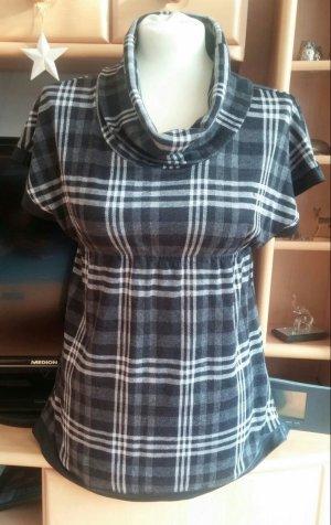 Damen Kleid Tunika Gr.S in Braun-Beige kariert von Xanaka NW