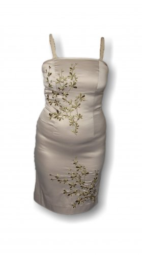 Damen Kleid, Vero Moda, Gold, Blumendesign, edel, luxuriös, Gr. 34