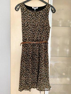 Damen Kleid von About you Gr 36 braun schwarz mit Gürtel Neu mit Etikett NP 44,90€