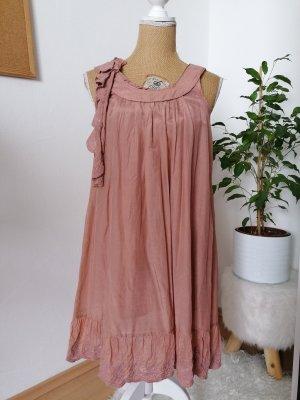 Nümph Robe en dentelle or rose-beige