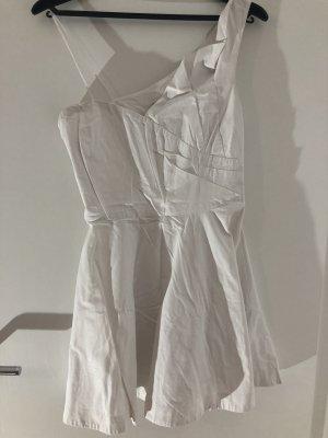 River Island Vestido de un hombro blanco