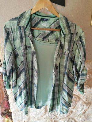 Cecil Gebreid shirt beige-lichtblauw