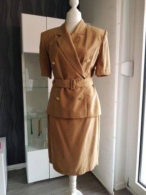 Damen Kostüm Senfgelb Größe 40 von Gabriella Benelli Creation