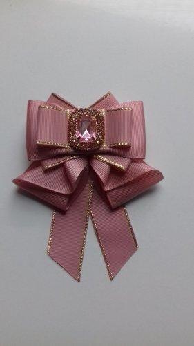 Broche rosa empolvado-rosa tejido mezclado