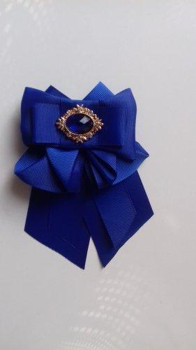 Broche azul-azul oscuro tejido mezclado