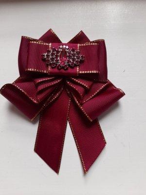 Broche karmijn-paars Polyester