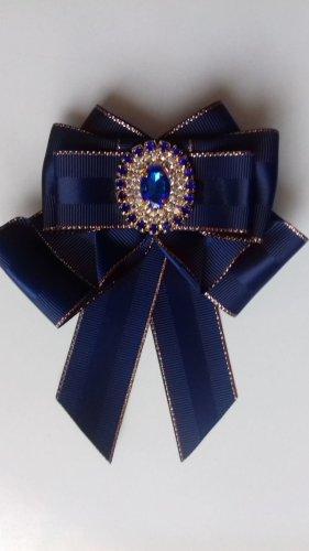 Broszka ciemnoniebieski Poliester