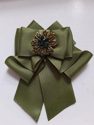Broche verde oliva-gris verdoso Poliéster