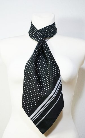 Unbekannte Marke Cravate ascot noir-gris clair