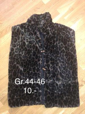Fake Fur Vest dark brown-brown
