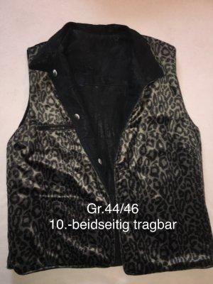 Fake Fur Vest dark brown-black brown