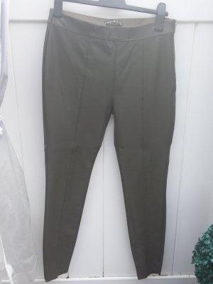 Amisu Faux Leather Trousers khaki