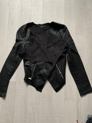 Ann Christine Leather Blazer black