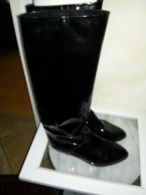 Damen- Lacklederstiefel von Franco Moda - Made in Italy- schwarz - Gr.37,5