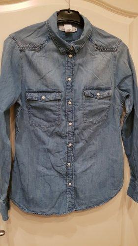 Damen langarm jeans Bluse/Hemd gr.40