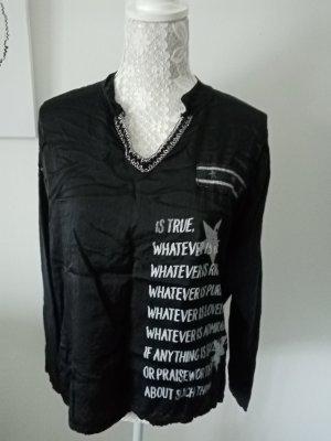 keine Marke bekannt Batik shirt zwart