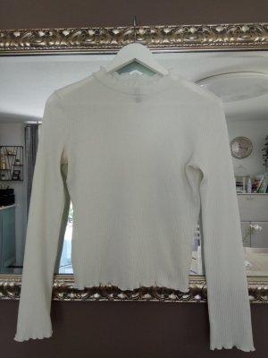 H&M Ribbed Shirt white