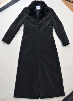 YPSO Floor-Lenght Coat anthracite-black cotton