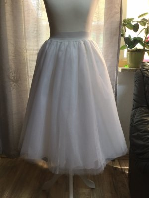 Damen Langrock Tutu Tüll Rock 3Layer A-Linie Braut Party Hohe Taile Röcke Mode