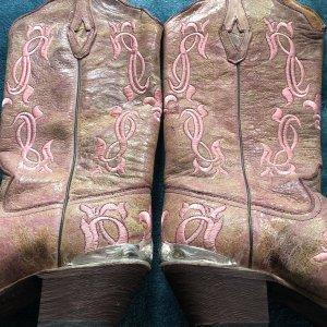 Buty w stylu western w kolorze różowego złota-jasnobeżowy