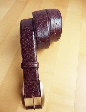 Zapa Cinturón de cuero marrón Cuero