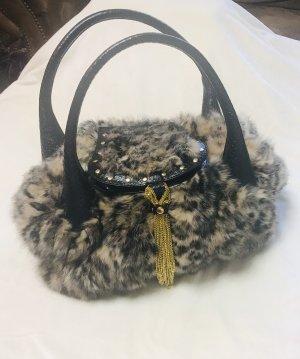 Damen Leder Handtasche Neu Leopard Design