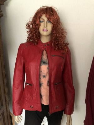 BC Leather Jacket dark red