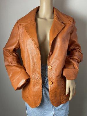 Joy Leather Jacket orange mixture fibre