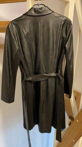 Rinacimento Leather Coat black
