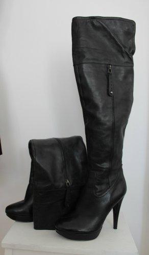 5th Avenue Overknees black leather