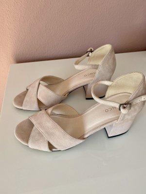 Damen Leder Riemchen Pumps Sandaletten Sandalen rosa Gr 40 Bianco Neu NP€79,99