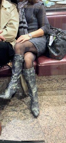 Apart Laarzen met hoge hakken veelkleurig