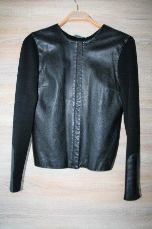 Next Leather Blazer black leather